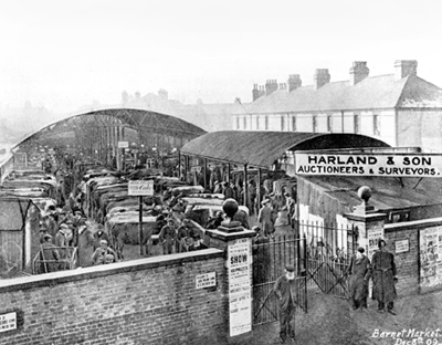 Barnet Cattle Market, St. Albans Road 1909