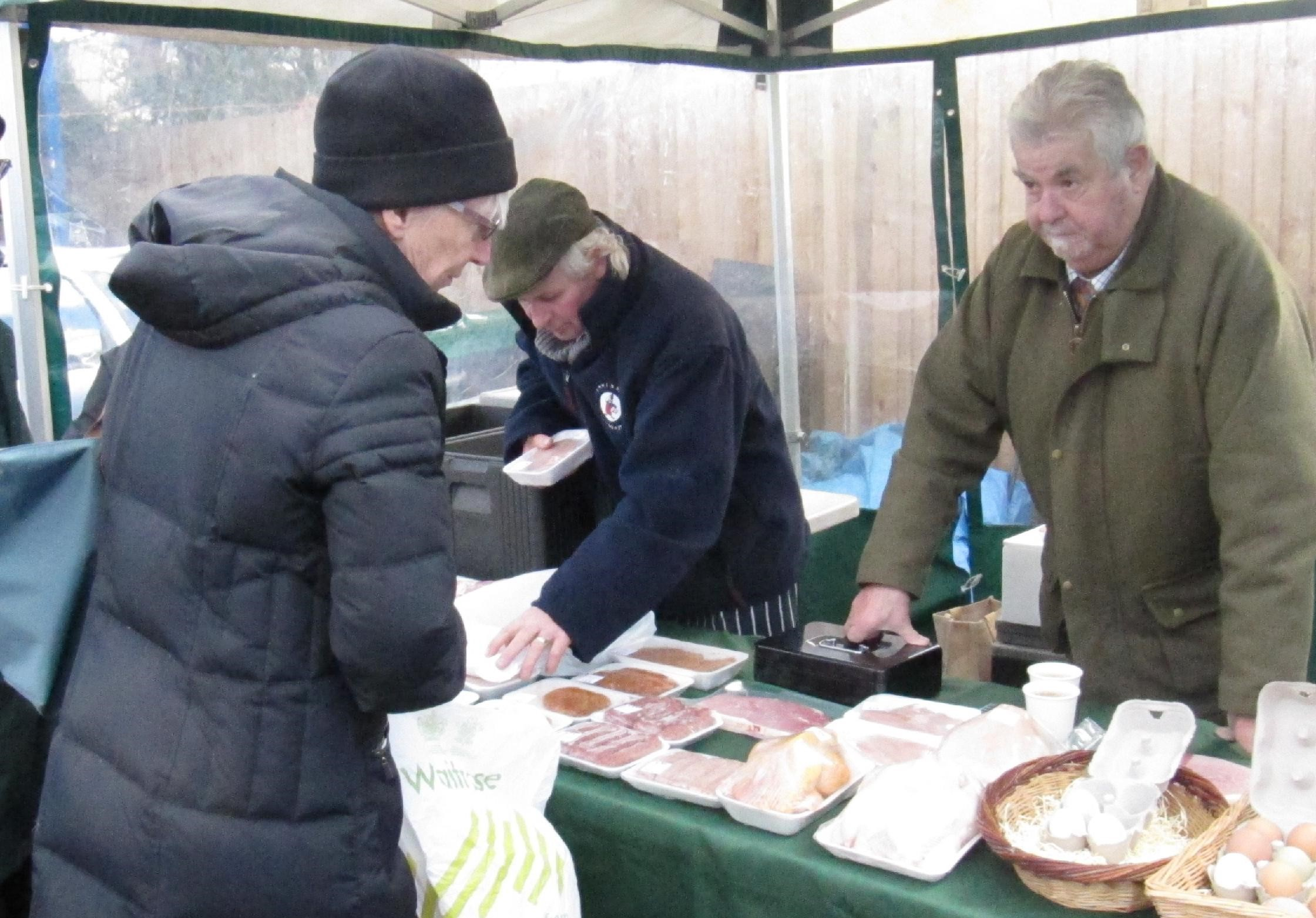 Lenny, a farmer from Cheshunt, sells meat & poultry in Barnet Market